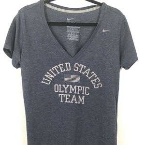 Nike Womens Slim Fit Grey T-Shirt US Team Size XL